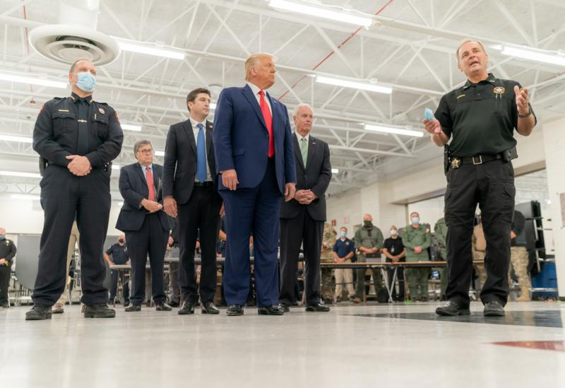 Trump with Law Enforcement