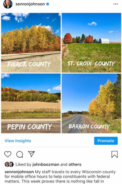 Fall Colors in 4 Wisconsin counties