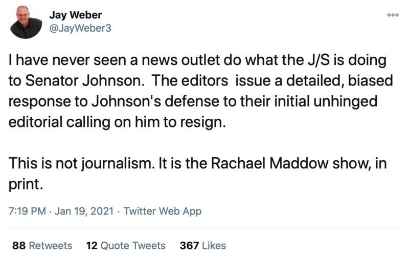 Jay Weber Tweet