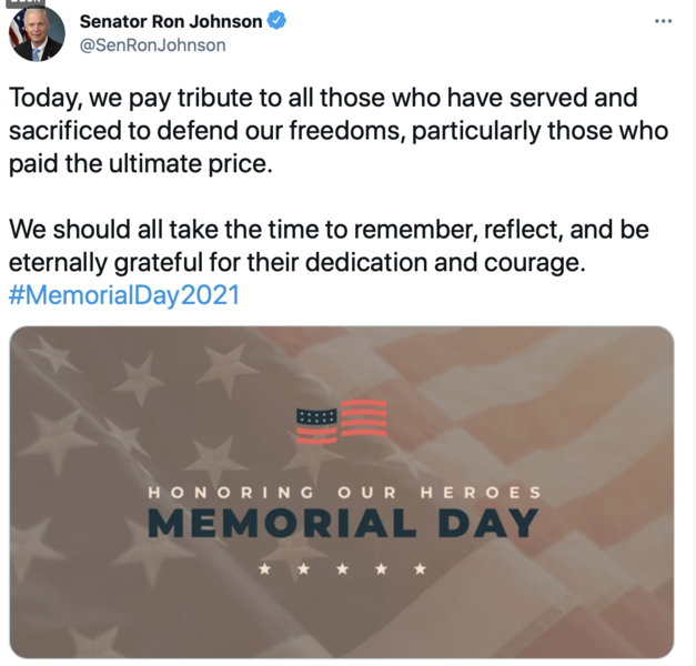 Tweet for Memorial Day