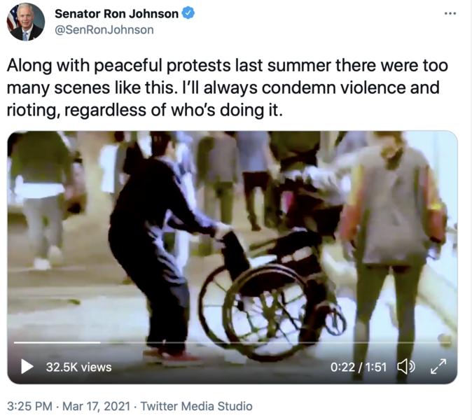 Tweet about Summer Violence