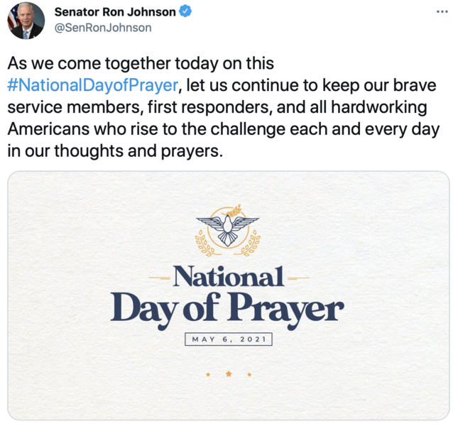 tweet about National Day of Prayer