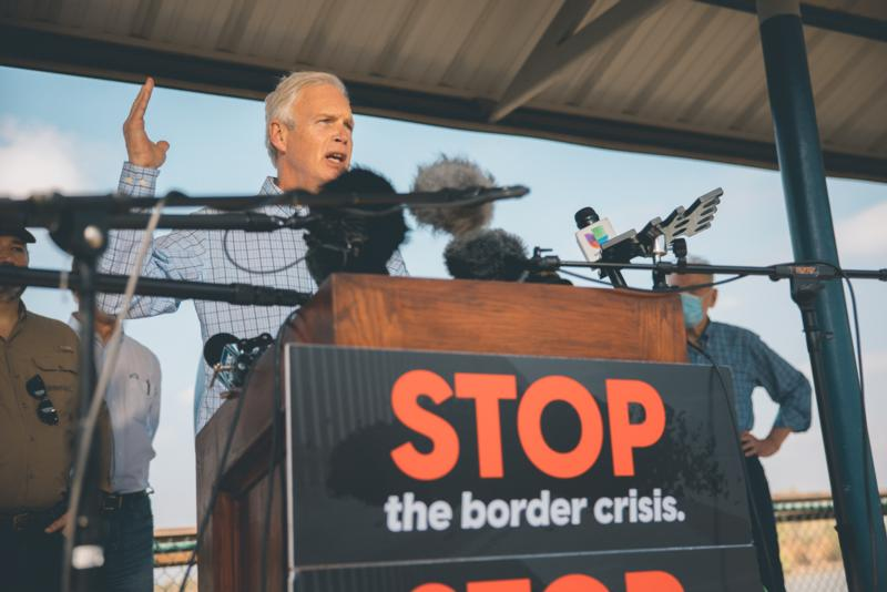 Ron Johnson at Texas Border