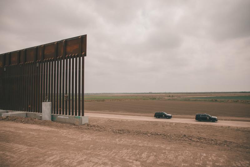 Border Wall left unfinished in Texas