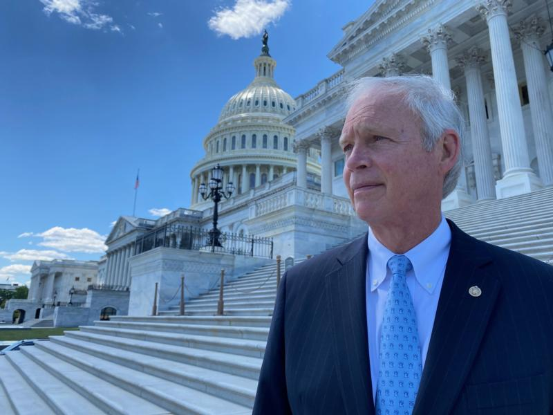 Ron Johnson on the Capitol steps