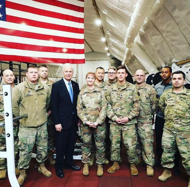 Sen. Johnson with the troops