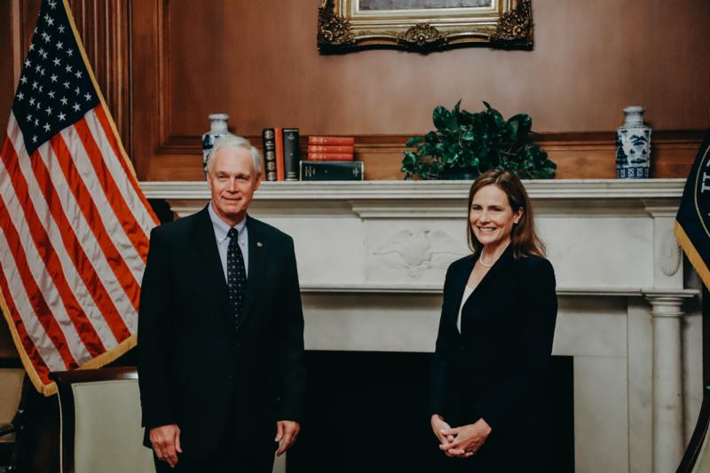 Sen. Johnson Meets Judge Amy Coney Barrett