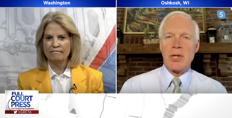 Greta Van Susteren and Ron Johnson