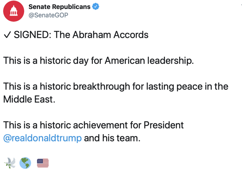 Tweet by Senate Republicans
